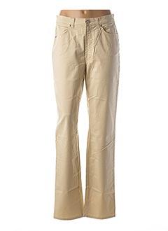Pantalon casual beige TRUSSARDI JEANS pour femme