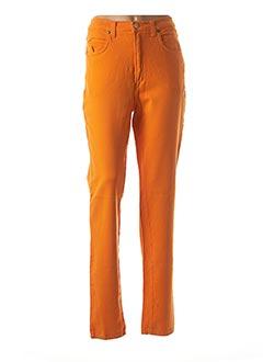 Pantalon casual orange TRUSSARDI JEANS pour femme