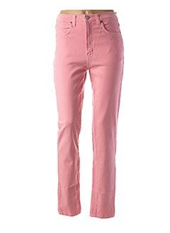 Pantalon casual rose TRUSSARDI JEANS pour femme