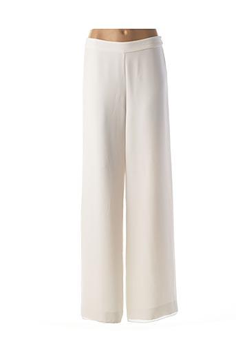 Pantalon casual blanc EDWARD pour femme