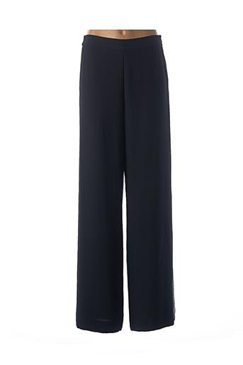 Pantalon casual bleu EDWARD ACHOUR pour femme