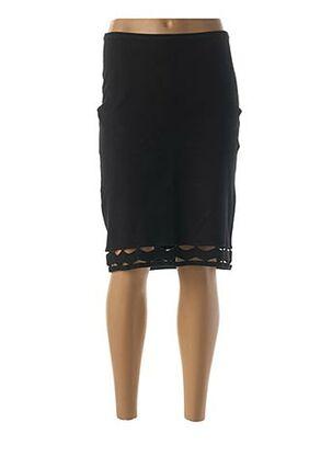 Jupe mi-longue noir ETINCELLE pour femme