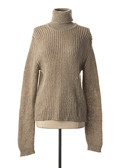Pull col roulé gris STATE OF CLAUDE MONTANA pour femme