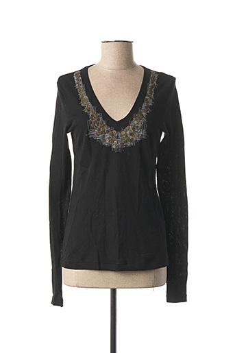 T-shirt manches longues noir MARITHE & FRANCOIS GIRBAUD pour femme