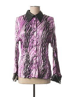 Chemisier manches longues violet ANGELO MARANI pour femme