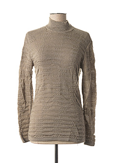 Pull col cheminée gris STATE OF CLAUDE MONTANA pour femme