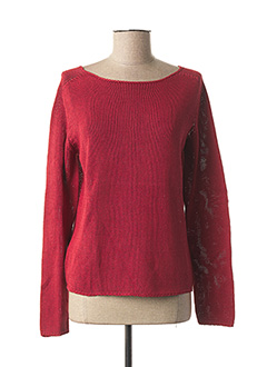 Pull col rond rouge WEEKEND MAXMARA pour femme