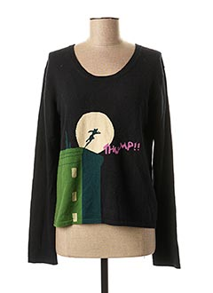 Pull col rond noir WEEKEND MAXMARA pour femme
