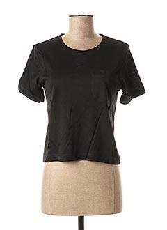 T-shirt manches courtes noir TRUSSARDI JEANS pour femme