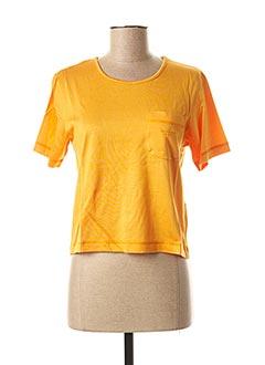 T-shirt manches courtes orange TRUSSARDI JEANS pour femme