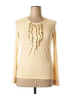 T-shirt manches longues beige PIAZZA SEMPIONE pour femme