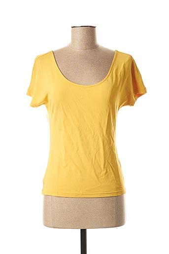T-shirt manches courtes jaune MAXMARA pour femme