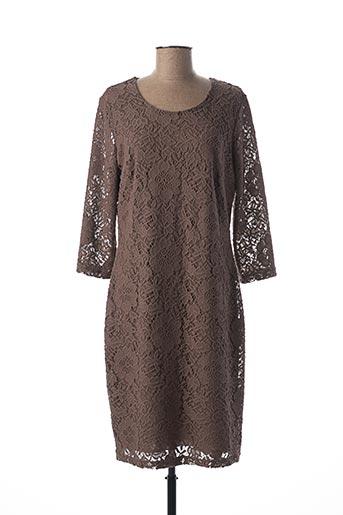 Robe mi-longue marron BETTY BARCLAY pour femme