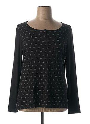 T-shirt manches longues noir ANNE KELLY pour femme