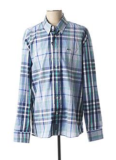 Chemise manches longues bleu MC GREGOR pour homme