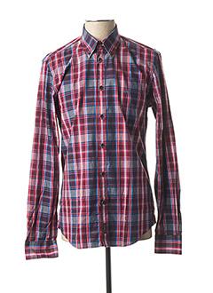 Chemise manches longues rouge MC GREGOR pour homme