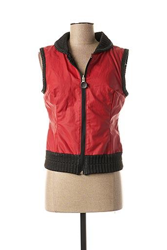 Veste simili cuir rouge LO! LES FILLES pour femme