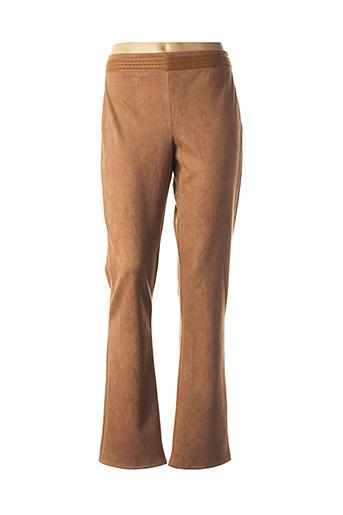 Pantalon casual marron LO! LES FILLES pour femme