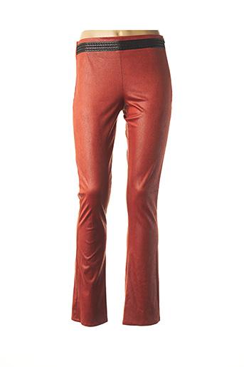 Pantalon casual orange LO! LES FILLES pour femme