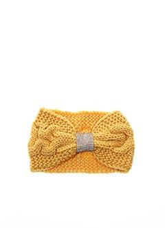 Bonnet jaune VL COLLECTION pour femme
