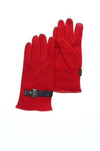 Gants rouge VL COLLECTION pour femme