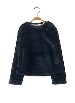 Pull col rond bleu JEAN BOURGET pour fille