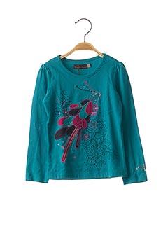 T-shirt manches longues bleu CATIMINI pour fille