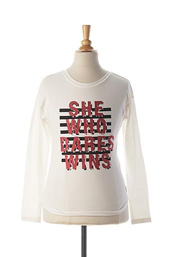 T-shirt manches longues blanc GARCIA pour fille