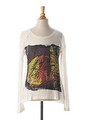 T-shirt manches longues blanc CHIPIE pour fille seconde vue