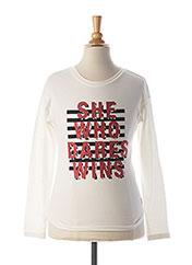 T-shirt manches longues blanc GARCIA pour fille seconde vue