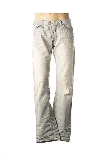 Jeans coupe droite gris DIESEL pour homme