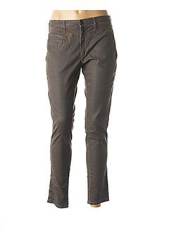 Pantalon 7/8 marron CHIPIE pour femme