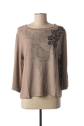 Pull col rond marron BETTY BARCLAY pour femme