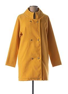 Manteau long jaune COQUELICOT pour femme