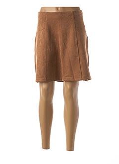 Jupe courte marron STREET ONE pour femme