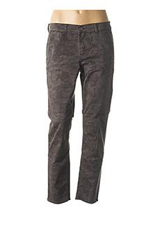Pantalon 7/8 gris HAPPY pour femme