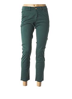 Pantalon 7/8 vert HAPPY pour femme