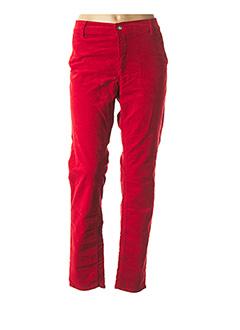 Pantalon casual rouge HAPPY pour femme