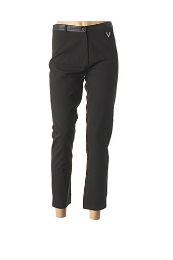 Pantalon 7/8 noir DOUBLE JEU pour femme