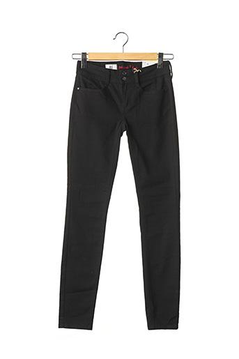 Jeans coupe slim noir STREET ONE pour femme