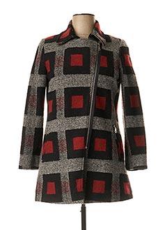 Manteau court rouge FRANCE RIVOIRE pour femme