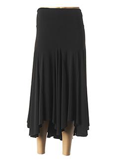 Jupe mi-longue noir GELCO pour femme