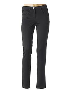 Pantalon casual noir CHEMA BLANCO pour femme