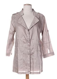 Veste casual marron A BELLE BY J.E CREATION pour femme