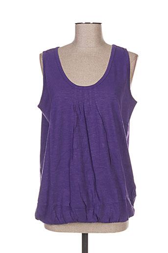 Débardeur violet BLANCHEPORTE pour femme
