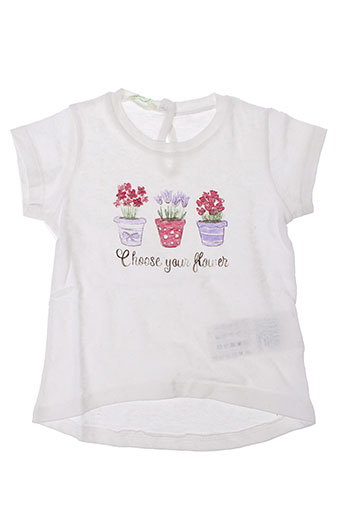 Top blanc BENETTON pour fille