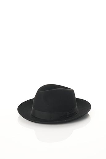 Chapeau noir BCAT pour homme