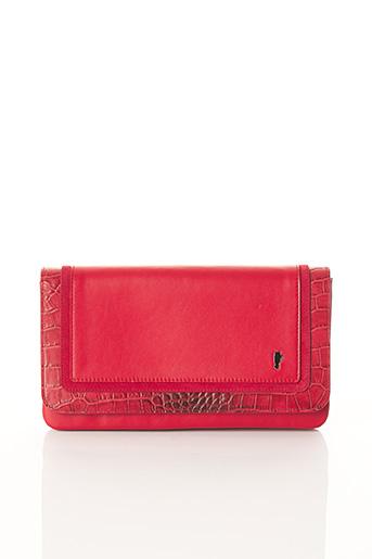 Pochette rouge BCAT pour femme
