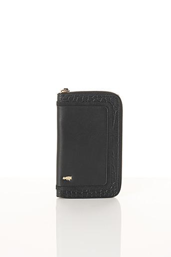 Portefeuille noir BCAT pour femme