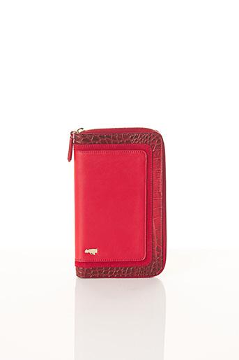 Portefeuille rouge BCAT pour femme